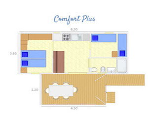 Bungalow Comfort Plus accessibile Castroboleto Village