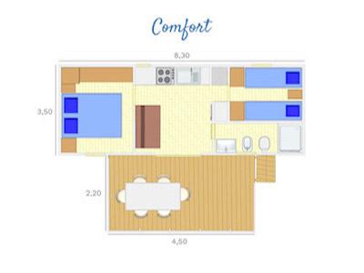 Piantina bungalow Comfort